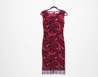 VINTAGE 90's Paisley Dress