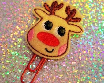 Rudolf/Reindeer Planner Clip