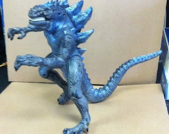 "Vintage Retro 1998 Toho Trendmaster Godzilla Movie Roaring Sound 14"" Action Figure Fang Bite"