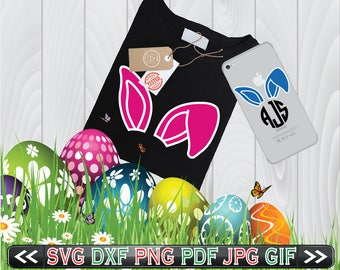Bunny Ears SVG Files for Cutting Easter Cricut Designs - Easter SVG Files - SVG Files for Silhouette - Instant Download