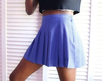 Vintage Periwinkle Tennis Skirt