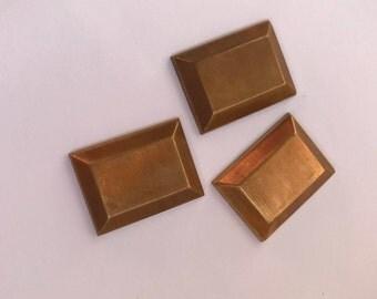 Brass Rectangular Jewelry Findings