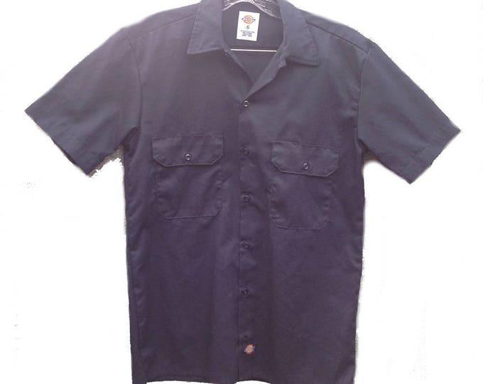 Small Dickies Industrial Work Shirt Blue