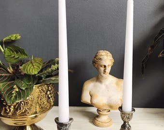 Vintage silver candlesticks / antique silver candleholders / silver candleholders