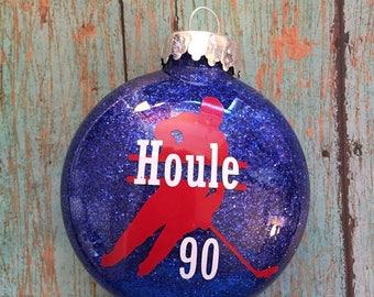 Hockey Ornament. Ice Hockey Ornament. Team Gift. Personalized Hockey Ornament. Personalized Christmas Ornament. Hockey Gift.