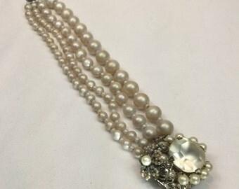 Vintage Miriam Haskell Baroque Bracelet