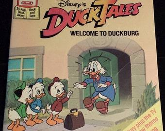 Vintage 1980's Disney's Ducktales: Welcome to Duckburg Storybook