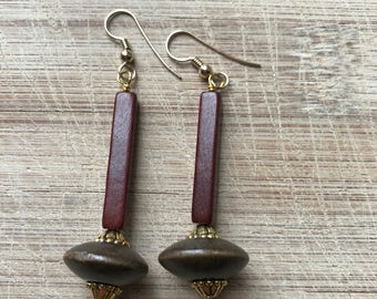 Wood earrings, Wooden earrings