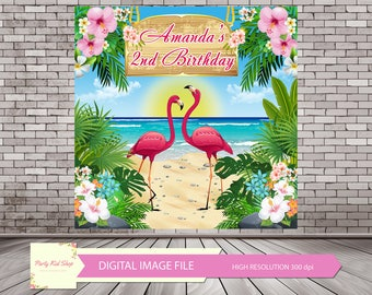 Flamingo Backdrop, Flamingo Banner, Let's Flamingle, Flamingle Banner, Flamingo Photo Booth, Flamingo Party, Flamingo Birthday *DIGITAL FILE