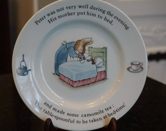 Vintage Wedgwood Peter Rabbit Plate/Beatrix Potter/Made in England