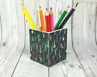 Cactus Pencil Pot or Make Up Pot