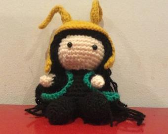 LOKI - Handmade Crochet Amigurumi Doll - Marvel Avengers