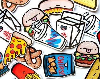 Junk Food Dudes Stickers