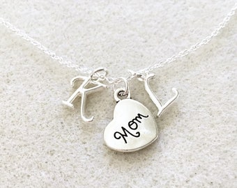Mom necklace with letters new mom birthday gift for mother jewelry mother Christmas gifts for mom new mom jewelry gift new mom necklace gift