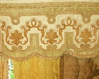 Antique Silk and Velvet Altar Frontal, Valance no 2