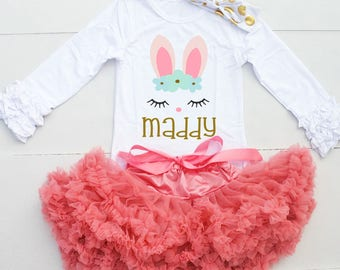 Personalized Easter Shirt - Girl Easter Shirt - Easter Outfit for Girl - Toddler Easter Outfit - Girl Easter Outfit - Easter Shirt for Girl
