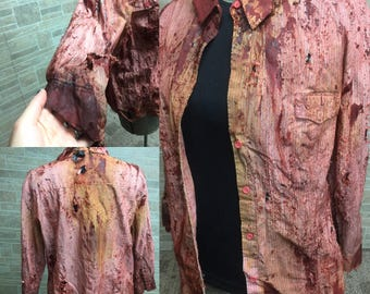 Womens X Large Zombie Button Up