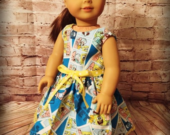 "Blue Sea Sponge Cartoon Dress Clothes for 18"" Dolls like American Girl, My Life or Our Generation Dolls"