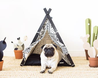 Aztec dog teepee tent with bedding (medium size) Oh yes, FREE shipping!