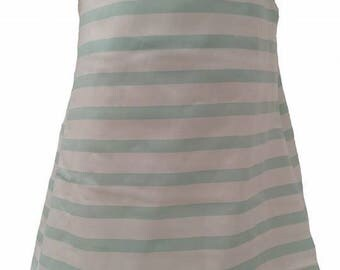 Green Stripe Short Sleeve Dress