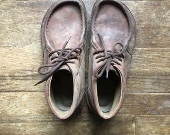 vintage birkenstocks L10-M8 brown leather moc toe ankle desert boots made in germany euro size 41 mens