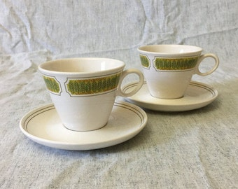 Vintage Franciscan Hawaii Cups and Saucers, Set of 2