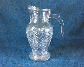 Vintage Pressed Glass Pineapple Pitcher