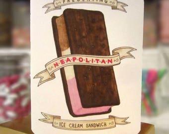 Neapolitan Ice Cream Sandwich Card