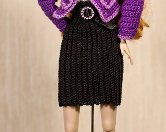 Barbie clothes Barbie crochet Handmade Set for Fashion Royalty, Barbie dolls and other dolls with similar body size