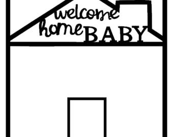 Scrapbook Overlay - Welcome Home Baby