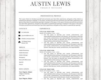 resume template for word and pages instant download resume template instant download cv - Download Resume Templates For Word