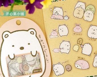 San-X Sumikko Gurashi Stickers / San-X Sticker Flakes / Kawaii Stickers / Cute Stickers / Japanese Stickers / Kawaii Shirokuma White Bear