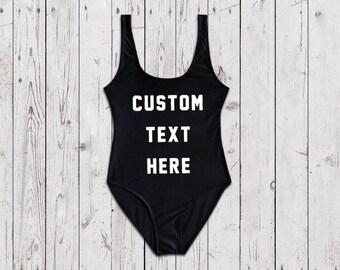 Custom Women's One Piece Swimsuit - Retro One Piece Swimsuit - Womens Swimsuit