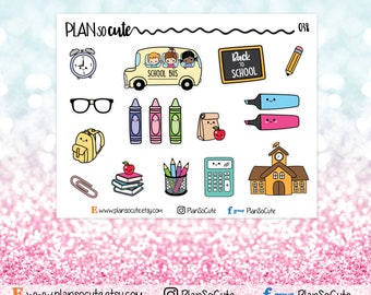 Back to school Stickers, Planner Stickers -038