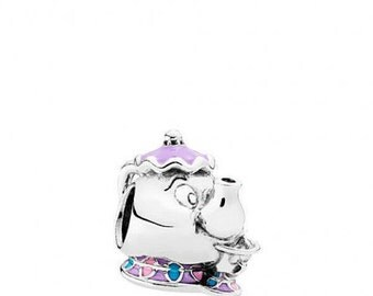 Pandora Disney Beauty & Beast MRS POTTS and CHIP Charm comes in Pandora Pouch
