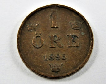 Sweden 1893 One Ore Coin.