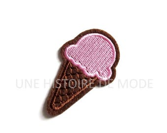 Patch, badge fusible ice cream cone 60 x 37 mm