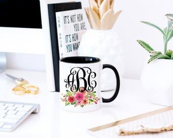 Monogram Mug Gift - Custom Monogram Mug - Bridesmaid Mug Gift - Mug for Sisters - Mug for Moms - Girlfriend Gift Mug - Mug Gift Girlfriend