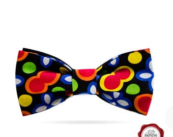 Bow tie - bowtie - psychedelic bow tie - colorful bow tie - dots bow tie