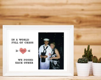 Couples Quote; World of Chaos Digital Print, Soul Mates Instant Download Wall Decor, Meant to Be Digital Art, Anniversary Picture Frame Gift