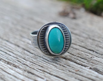 Large Stamped Ring | Size 11 | Sterling Silver | Unisex