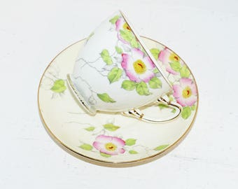 Adderley Vintage Teacup and Saucer Signed - 1543