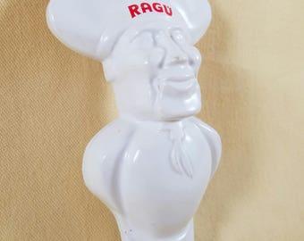 RAGU Chef ~ Bottle Opener ~ Utensil ~ Bar Ware ~ Plastic ~ RAGU Man ~ Advertising Collectible ~ Spaghetti Sauce ~ Seths Vintage Emporium