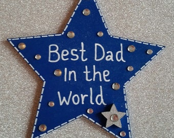 Wooden Father's Day Star Gift
