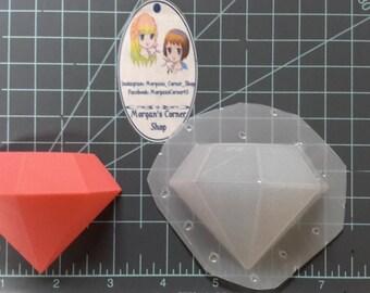 Diamond Plastic Mold, 2 part plastic mold, bath bomb mold, soap mold, 2 part diamond mold, gem mold, jewel mold, wax mold, bath bomb mould