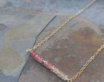 Pink Sapphire Ombre Necklace