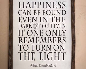 Happiness Can Be Found Quote Jumbo Light Switch Plate Magical