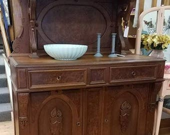 Victorian Buffet Table, Walnut Buffet Table, Antique Furniture, Victorian  Furniture, Painted Furniture