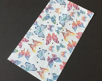100 NEW 6x9 BUTTERFLIES Designer Poly Mailers Self Sealing Envelopes Shipping Bags
