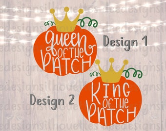 Queen of the patch King of the patch SVG PNG cut files